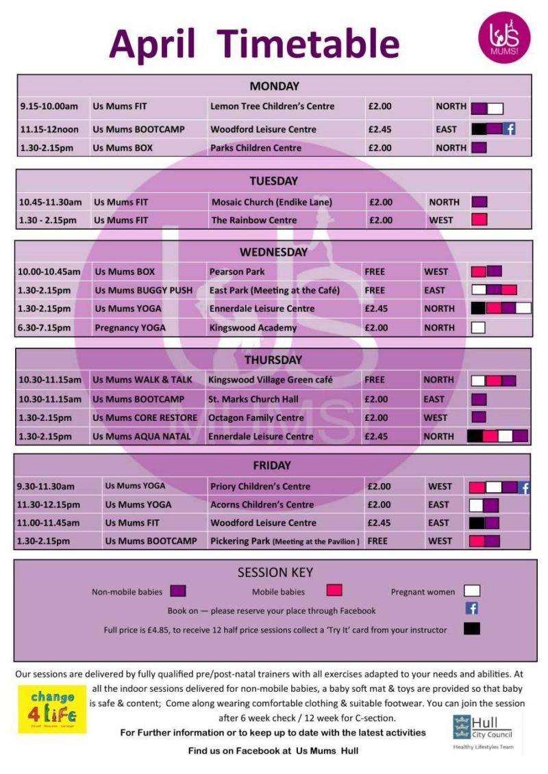 us mums april 2019 timetable hull