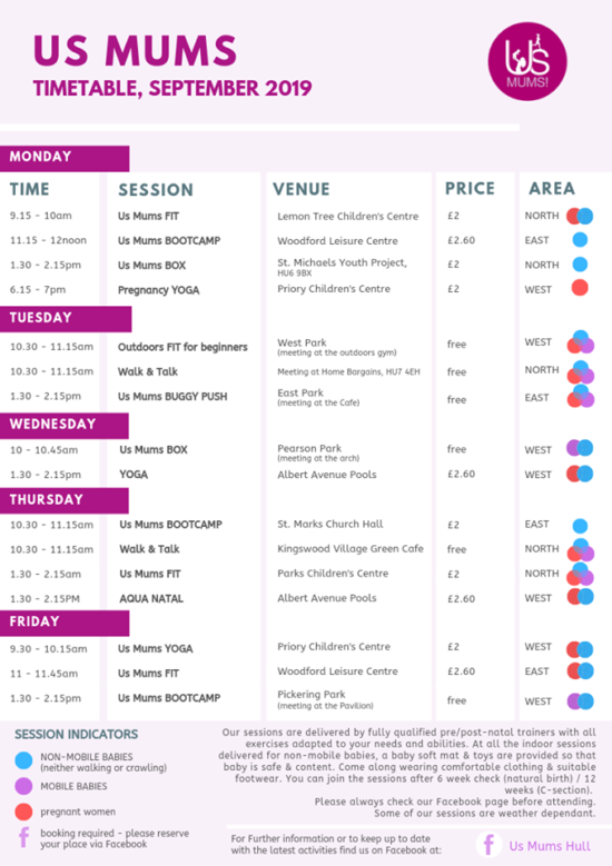 us mums hull september 2019 timetable