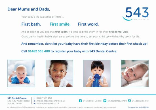 your babies 1st dental visit a guest blog by 543 dental care