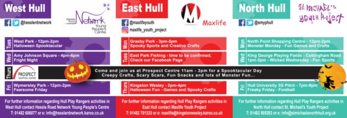 play rangers free activities hull october half term 2019