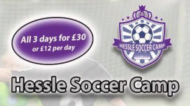 hessle soccer camp, school holiday football camps