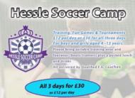hessle soccer camp summer 2019