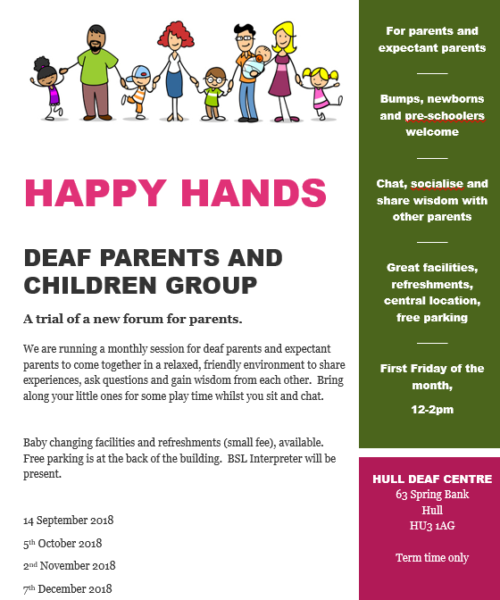 deaf parent and children group hull
