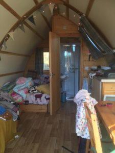 humble bee farm wigwam cabin inside