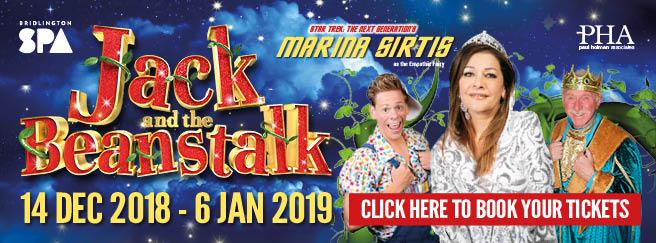 bridlington spa jack and the beanstalk panto 2018