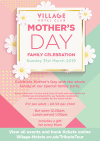 mothers day 2019 family celebration village hotel hull