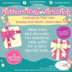 cookstars hull mothers day workshop