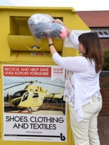 textiles recycling clothing banks