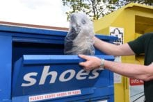 recycling shoes clothing banks