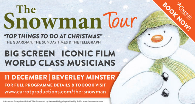 snowman with live orchestra tour 2019 beverley minster