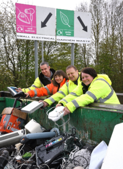 east riding council waste team batteries electrical goods recycling