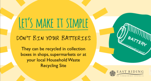 dont bin your batteries, recycling batteries an electricals