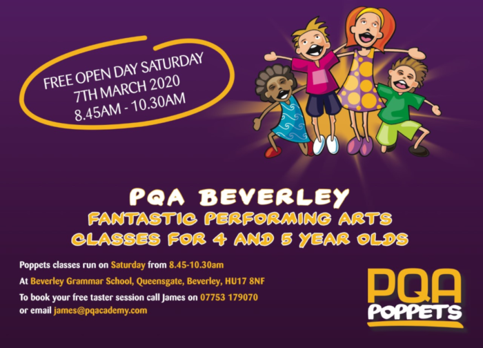 pqa poppets open day mar 2020