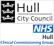 Hull NHS CCG and Hull City Council logos