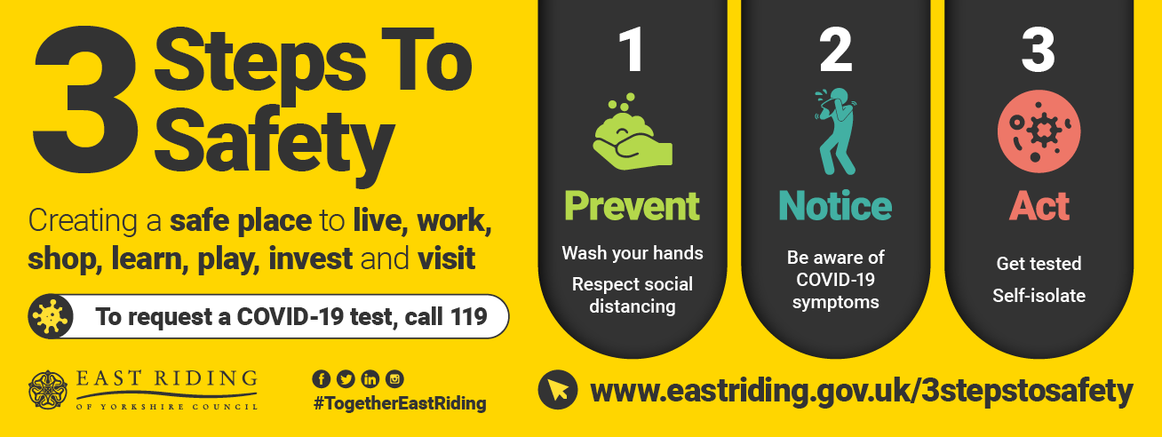 east riding 3 step covid campaign