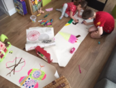 wallpaper drawing, at home craft activities and ideas for children