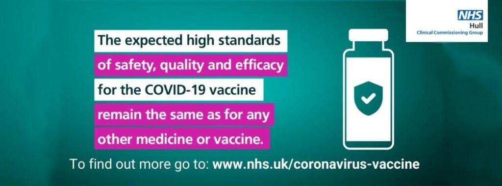 coronavirus vaccine nhs hull information