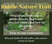 rustic riddle at ulrome, nature trail with clues for families and children