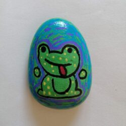 rainy day ideas to do at home with kids - paint rocks