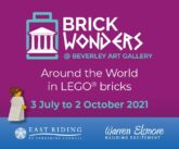 brick wonders, lego exhibition at beverley art gallery this summer 2021, free family activity