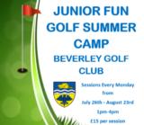 beverley golf club junior summer golf camps for summer 2021