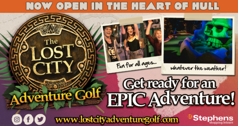 lost city golf hull, new adventure crazy golf family day out in hull