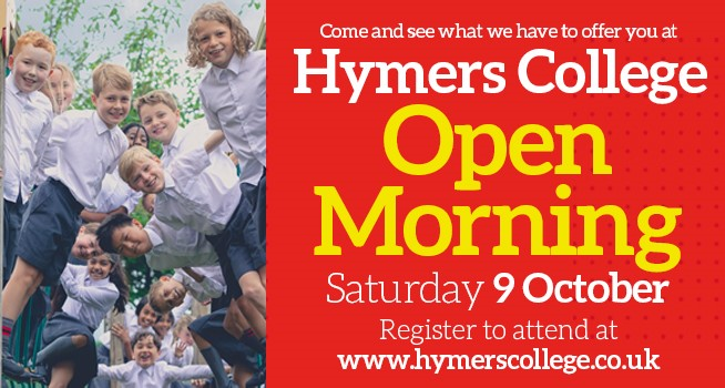Hymers College hull open morning